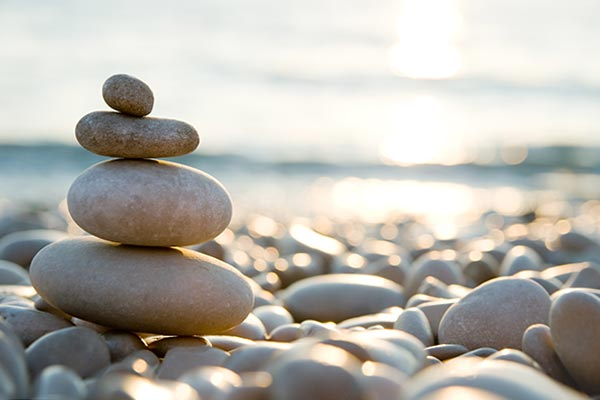 seascape rocks on the beach
